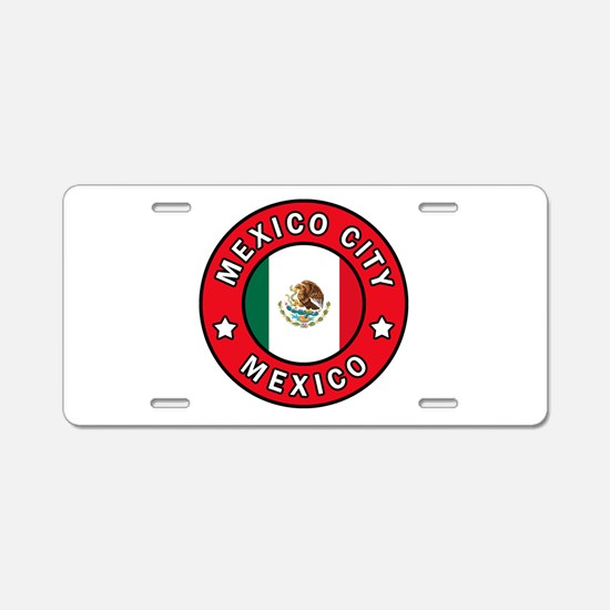 Mexico City Aluminum License Plate