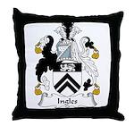 Ingles Family Crest Throw Pillow
