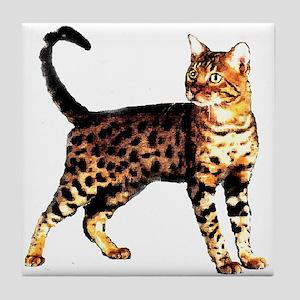 Bengal Cat: Raja Tile Coaster