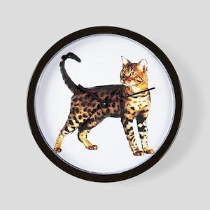 Bengal Cat: Raja Wall Clock