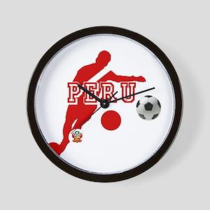 Peru Football Player Wall Clock
