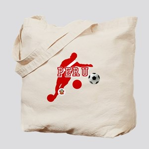 Peru Football Player Tote Bag