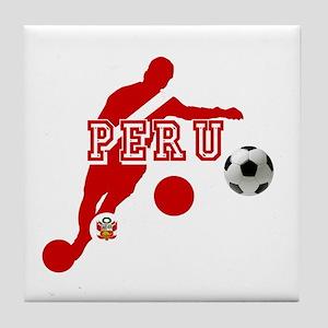 Peru Football Player Tile Coaster