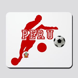 Peru Football Player Mousepad