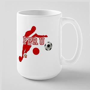 Peru Football Player 15 oz Ceramic Large Mug