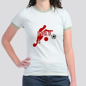 Peru Football Player Jr. Ringer T-Shirt