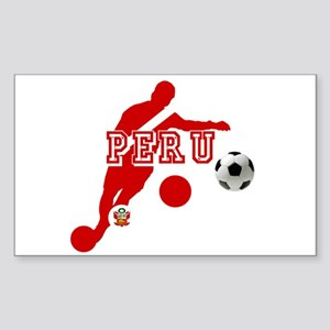 Peru Football Player Sticker (Rectangle)