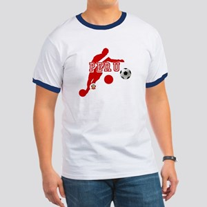 Peru Football Player Ringer T