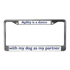 Agility Dance License Plate Frame