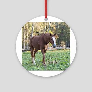 Greystoke horse Round Ornament
