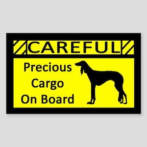 Precious Cargo Saluki Sticker (Rect)