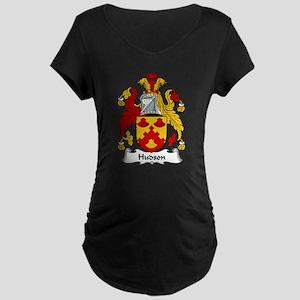 Hudson Family Crest Maternity Dark T-Shirt