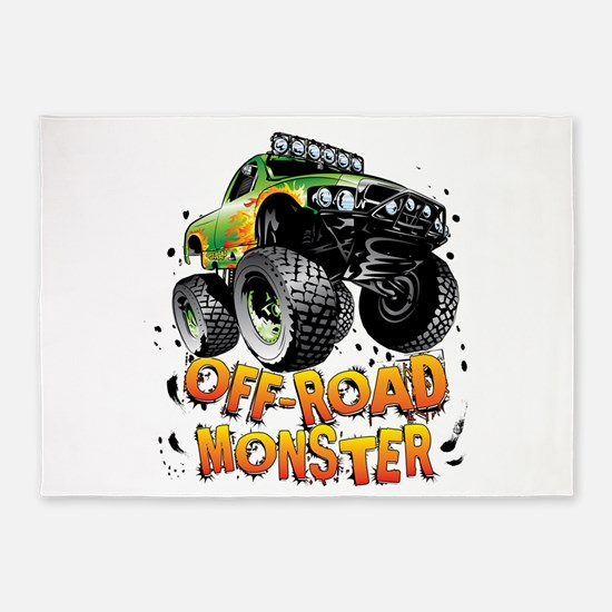Off-Road Monster Truck 5'x7'Area Rug