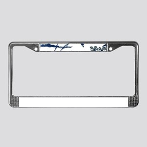 Tropical Beach Hibiscus Palm S License Plate Frame