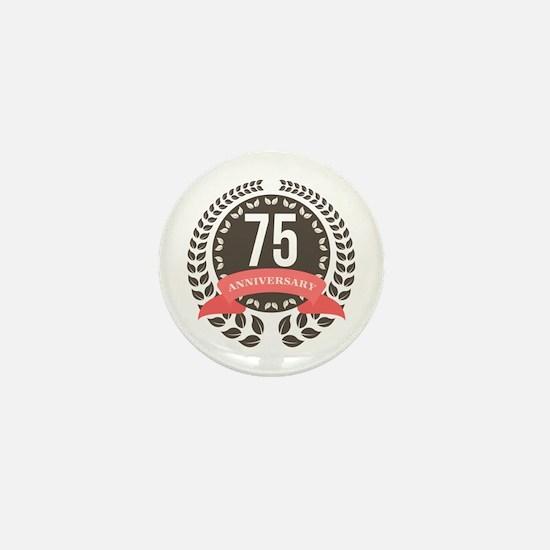 75 Years Anniversary Laurel Badge Mini Button