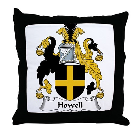 Howell Family Crest Throw Pillow
