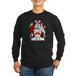 Horne Family Crest Long Sleeve Dark T-Shirt