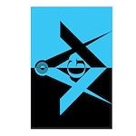 Masonic Rectangle - Night to Light Postcards (Pac