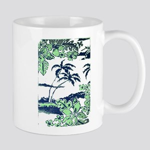 Tropical Beach Hibiscus Palm Style Mugs