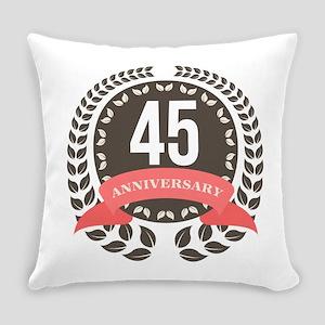 45Years Anniversary Laurel Badge Everyday Pillow