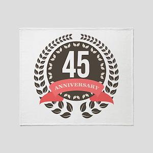 45Years Anniversary Laurel Badge Throw Blanket