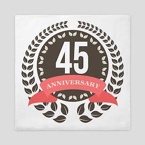 45Years Anniversary Laurel Badge Queen Duvet