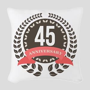 45Years Anniversary Laurel Bad Woven Throw Pillow