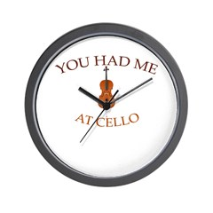 You had me at cello Wall Clock