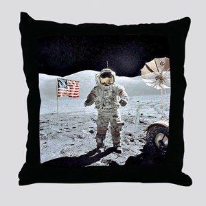 Moon Walk Throw Pillow