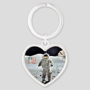 Moon Walk Heart Keychain
