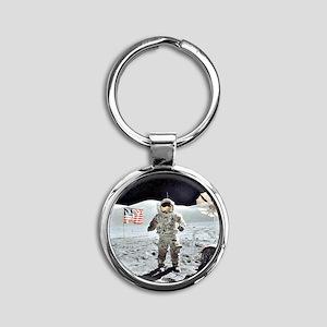 Moon Walk Round Keychain