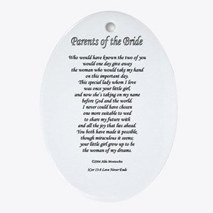 Parents of the Bride Oval Ornament