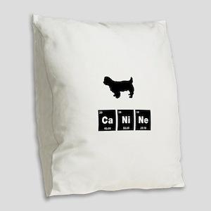 Sussex Spaniel Burlap Throw Pillow