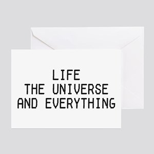 42 - Life, The Universe & Everything Greeting Card