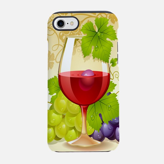 Wine Glass and Grape Vines iPhone 7 Tough Case