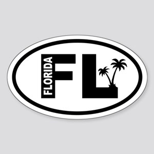 Florida Palm Trees Oval Sticker