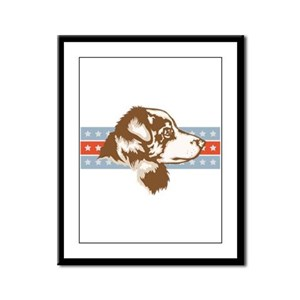 Miniature Australian Shepherd Framed Panel Print