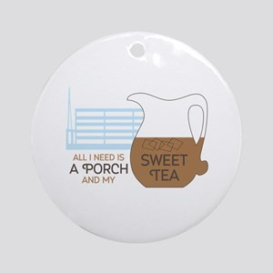 Porch and sweet tea Ornament (Round)