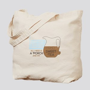 Porch and sweet tea Tote Bag