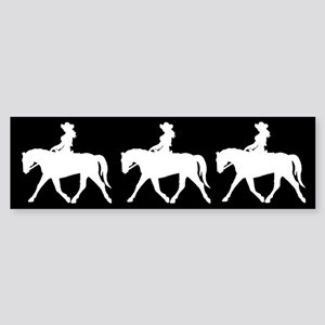 Three Cute Cowgirls Bumper Sticker