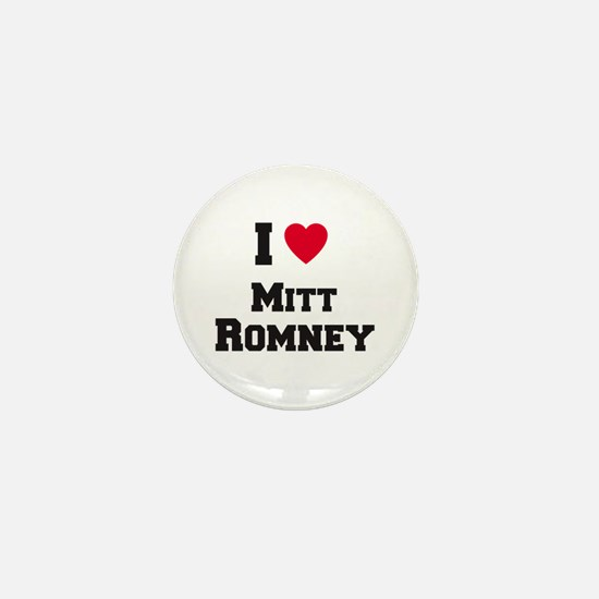 I love Mitt Romney Mini Button