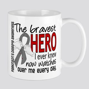Bravest Hero I Knew Parkinsons Large Mugs