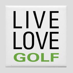 Live Love Golf Tile Coaster