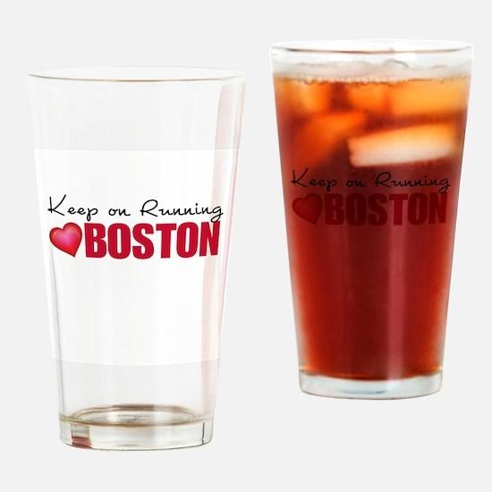 Keep on Running Boston Drinking Glass