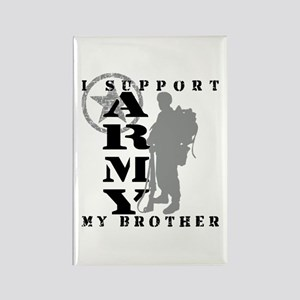 I Support My Bro 2 - ARMY Rectangle Magnet