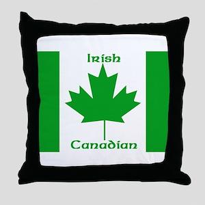 Irish Canadian Throw Pillow