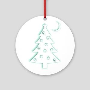 Christmas Skulls Tree Round Ornament