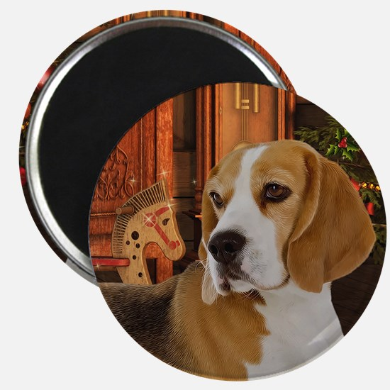 Beagle Christmas Magnets