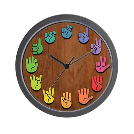 ASL Color Wood Wall Clock