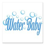 Water Baby Bubbles Square Car Magnet 3